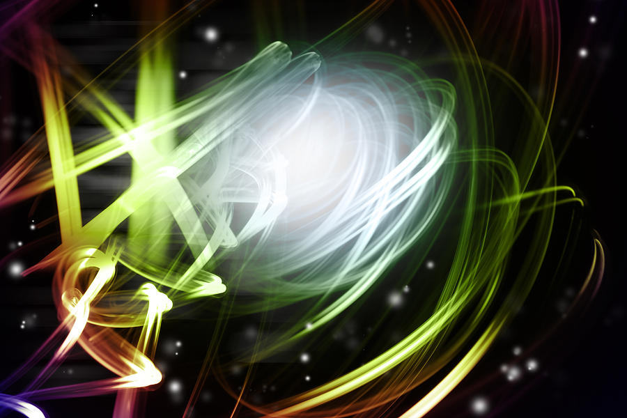 Bright Photograph - Space Background by Les Cunliffe