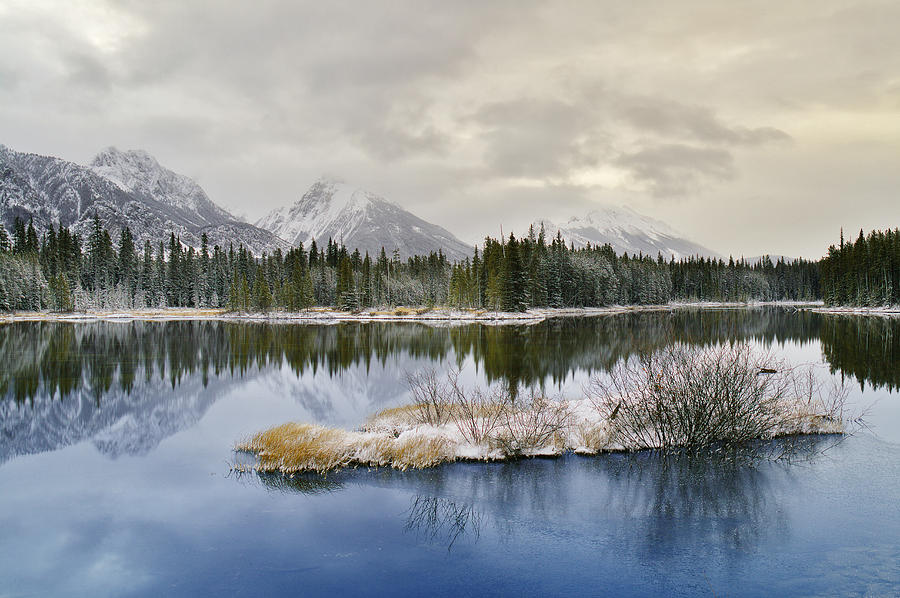 Light Photograph - Spillway Lake And The Opal Range, Peter by Darwin Wiggett