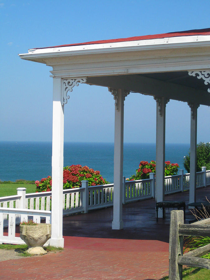 Ocean Photograph - Spring House Porch  by Rose Pasquarelli
