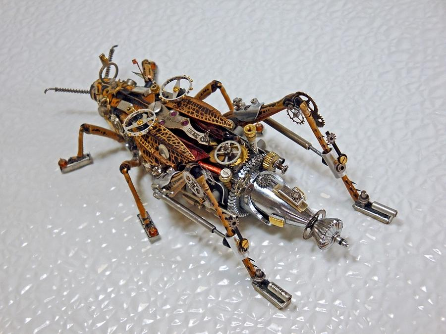 Steampunk Clockpunk Mechanical Bugs Sculpture By Dmitriy
