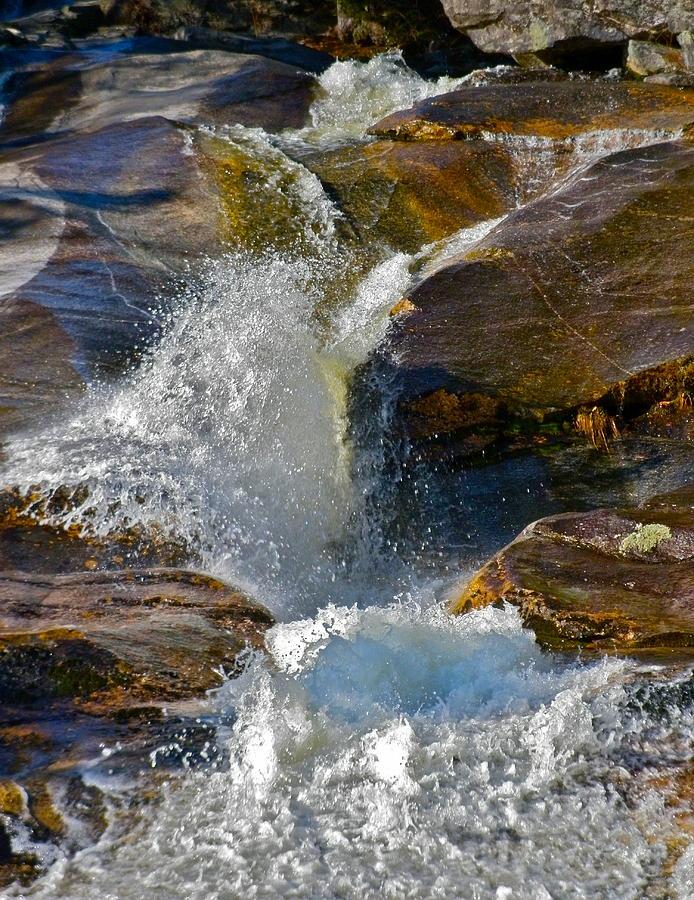 Nature Photograph - Step Falls Splash 2 by George Ramos