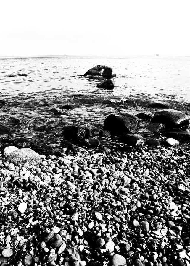 Meer Photograph - Stones At The Sea by Falko Follert