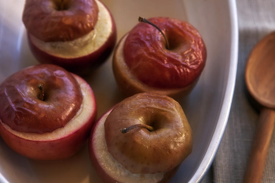 Halves Photograph - Stuffed Baked Apples by Joana Kruse