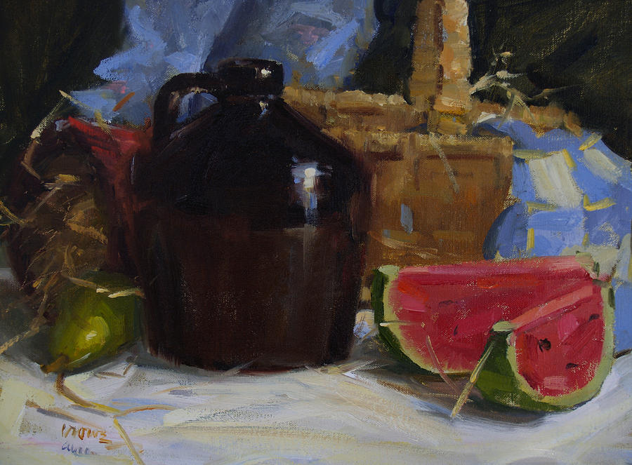 Still Life Painting - Summer by Judy Crowe