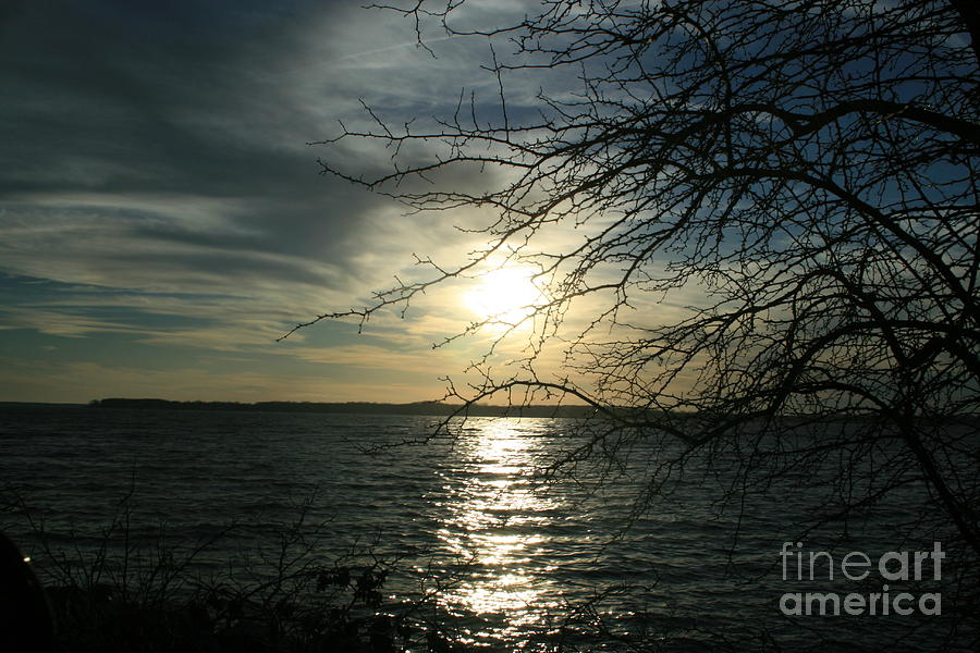 Nature Photograph - Sunset Chesapeake Bay by Valia Bradshaw