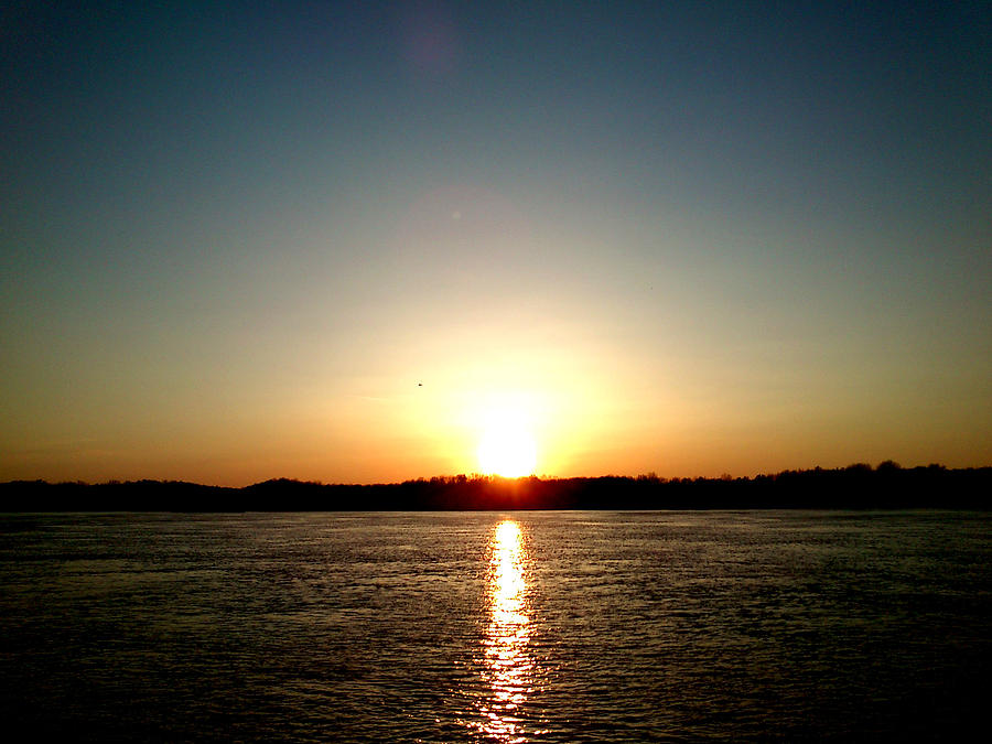 Sun Photograph - Sunset by Lucy D