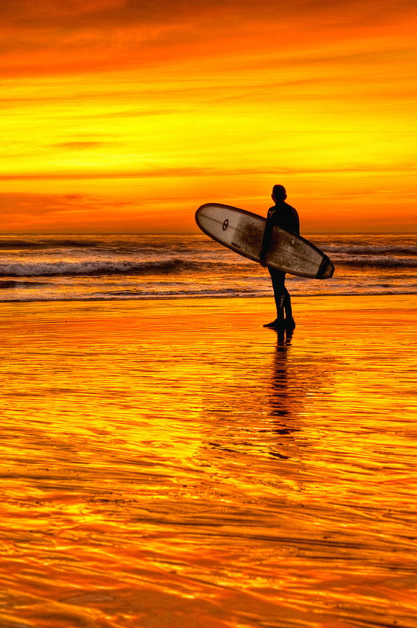 Landscape Photograph - Surfing Sensations by Donna Pagakis