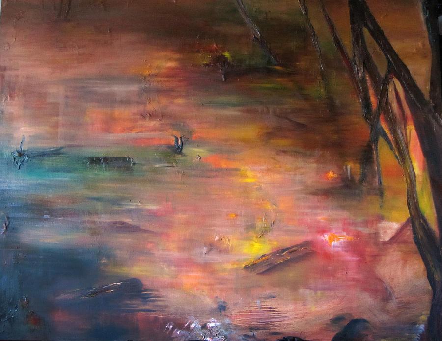 Swamp Painting by Paulina Lwowska