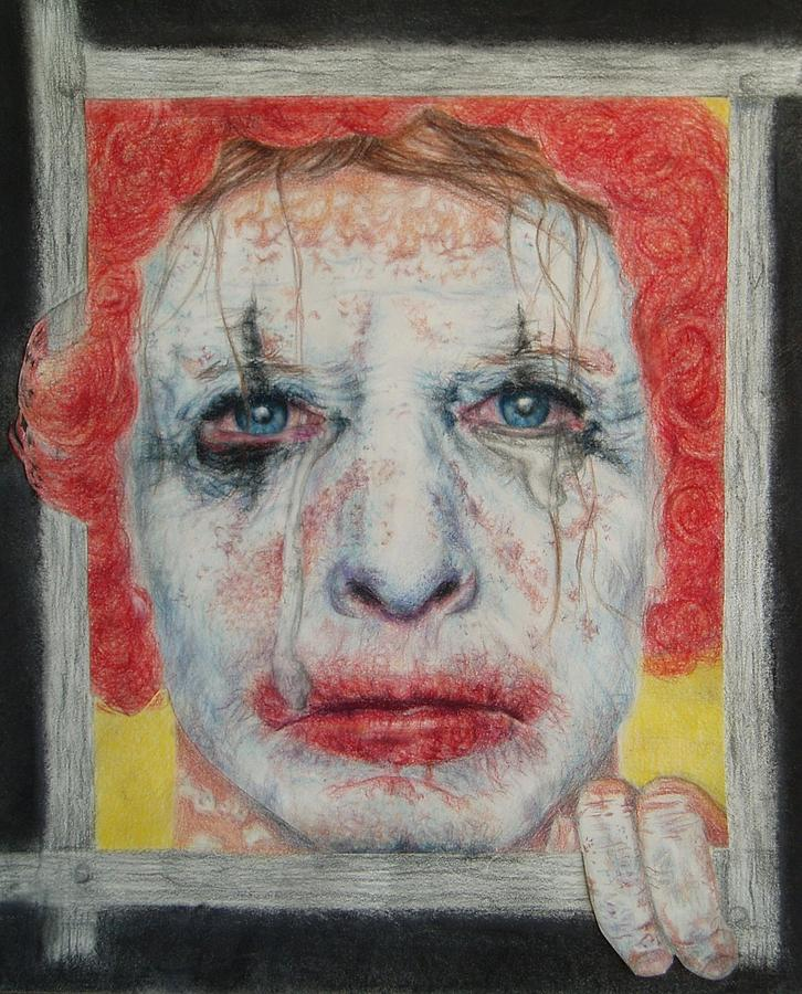 Clown Drawing - Take My Color by Joanna Gates