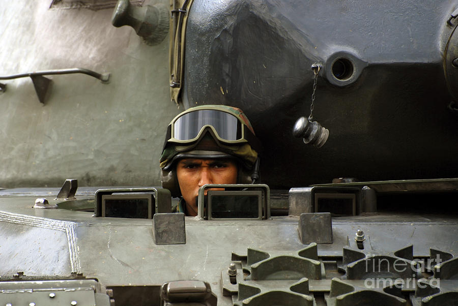 Adults Only Photograph - Tank Driver Of A Leopard 1a5 Mbt by Luc De Jaeger