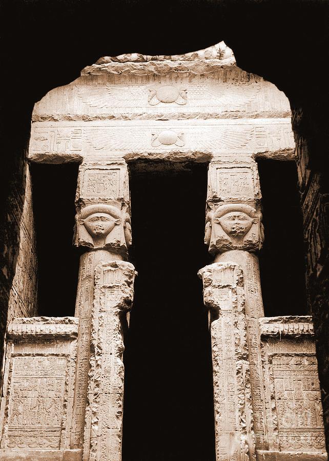 Temple Photograph - Temple Of Hathor by Photo Researchers, Inc.