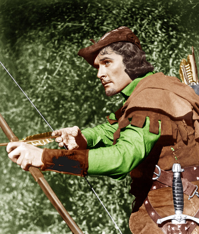 1930s Movies Photograph - The Adventures Of Robin Hood, Errol by Everett