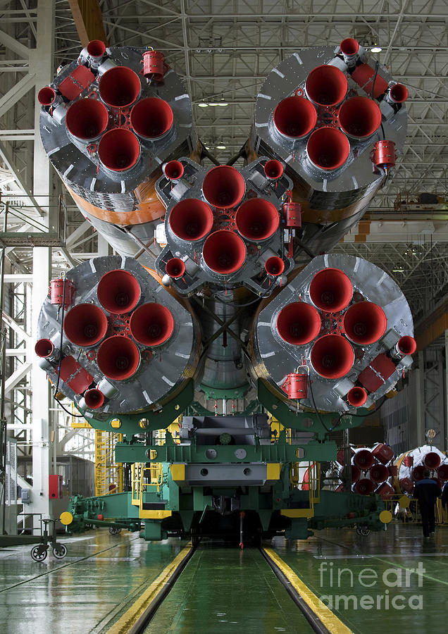 Tma-14 Photograph - The Boosters Of The Soyuz Tma-14 by Stocktrek Images