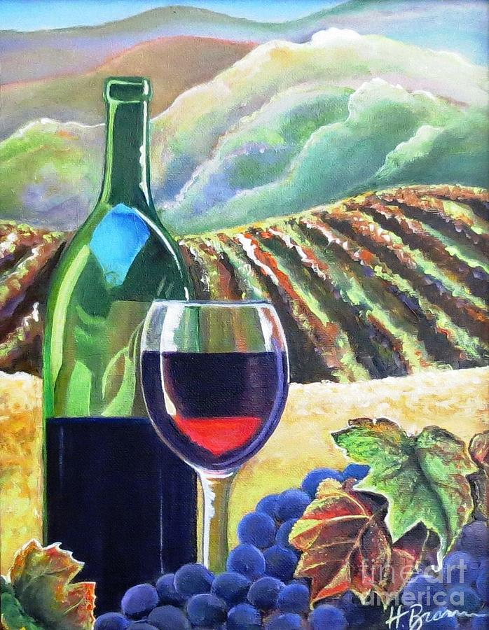 Wine Painting - The Harvest by Holly Bartlett Brannan