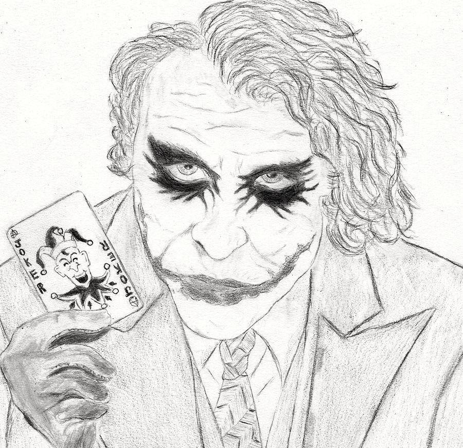 The Joker Drawing By Josh Bennett