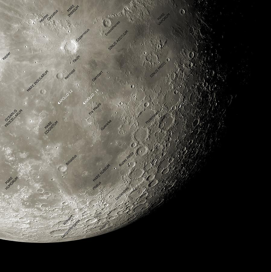 Moon Photograph - The Moon From Space, Artwork by Detlev Van Ravenswaay