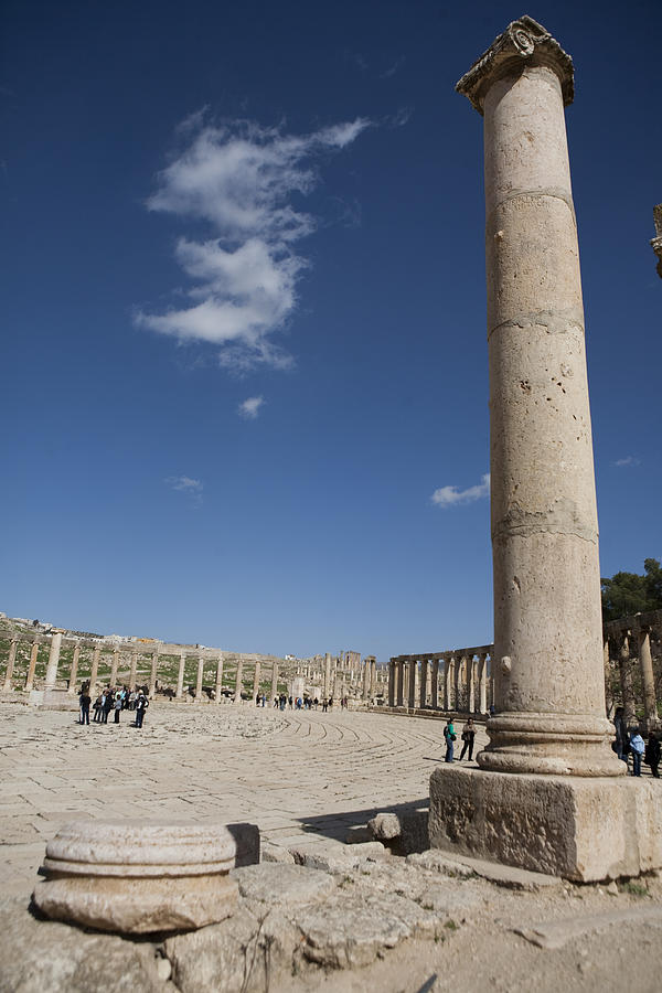 Columns Photograph - The Oval Plaza In The Ruins by Taylor S. Kennedy