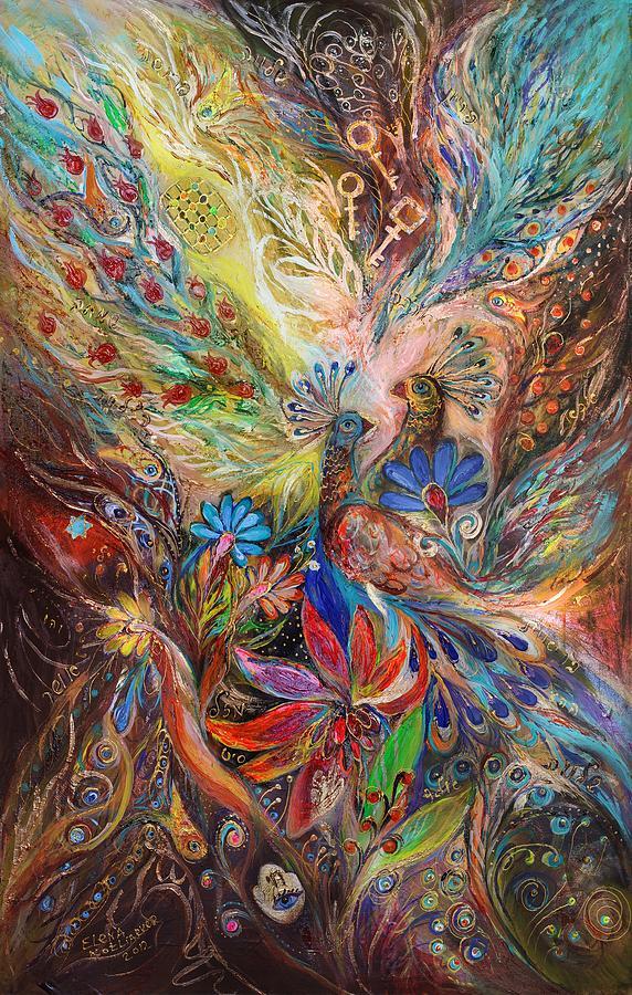 Judaica Painting - The Three Keys by Elena Kotliarker