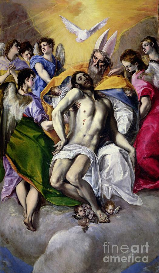 The Trinity Painting - The Trinity by El Greco