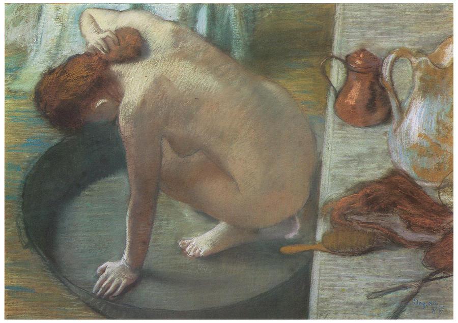 The Tub Pastel by Edgar Degas