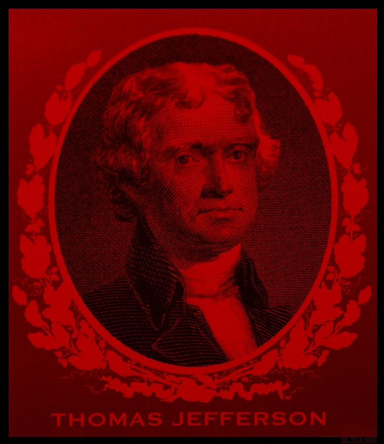 Thomas Jefferson In Red Photograph