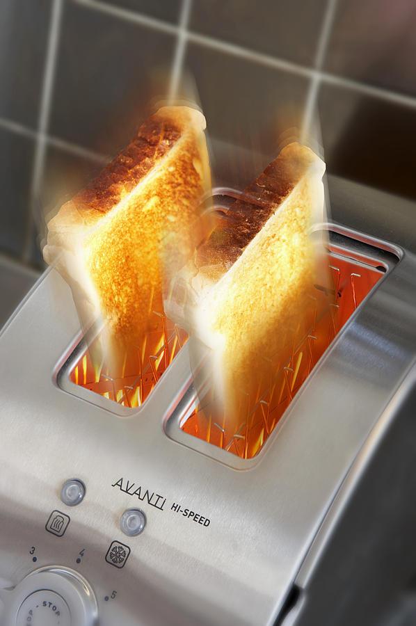 Appliance Photograph - Toast by Mark Sykes