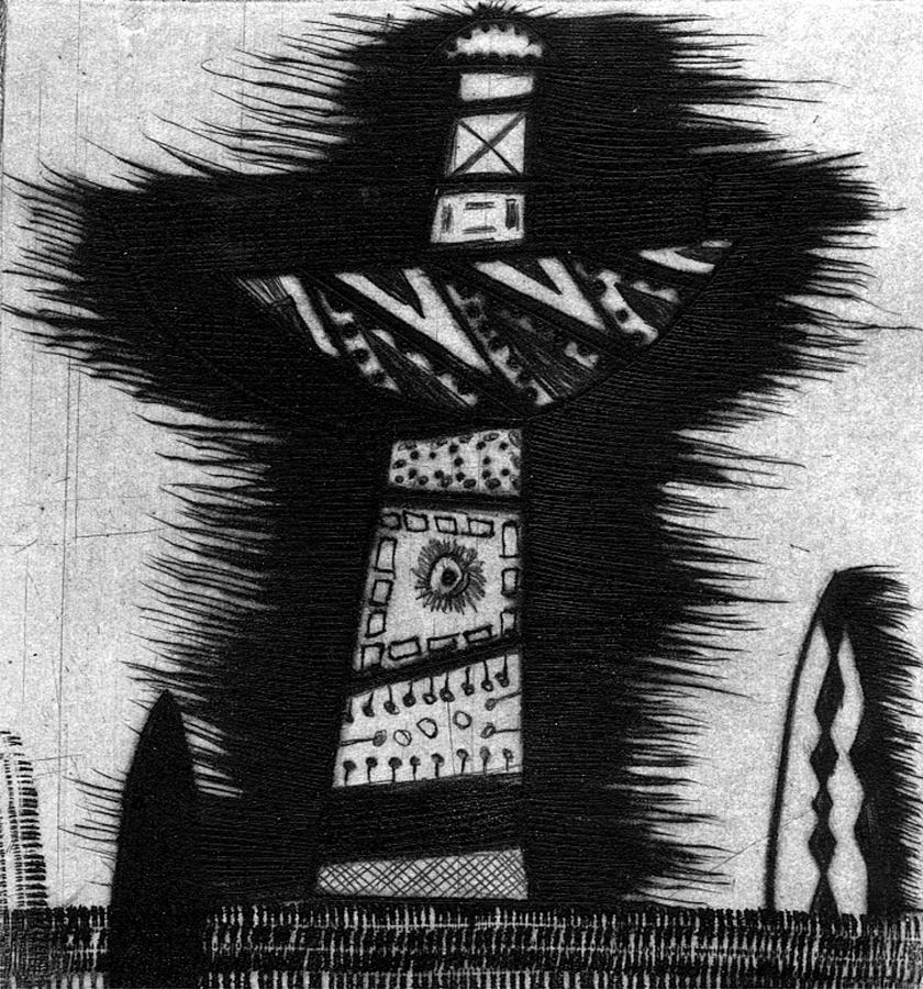 Totem Mixed Media by Branko Jovanovic