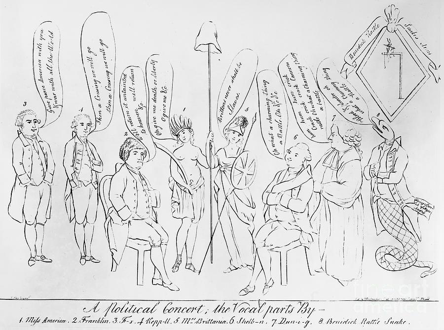 1783 Photograph - `treaty Of Paris, 1783 by Granger