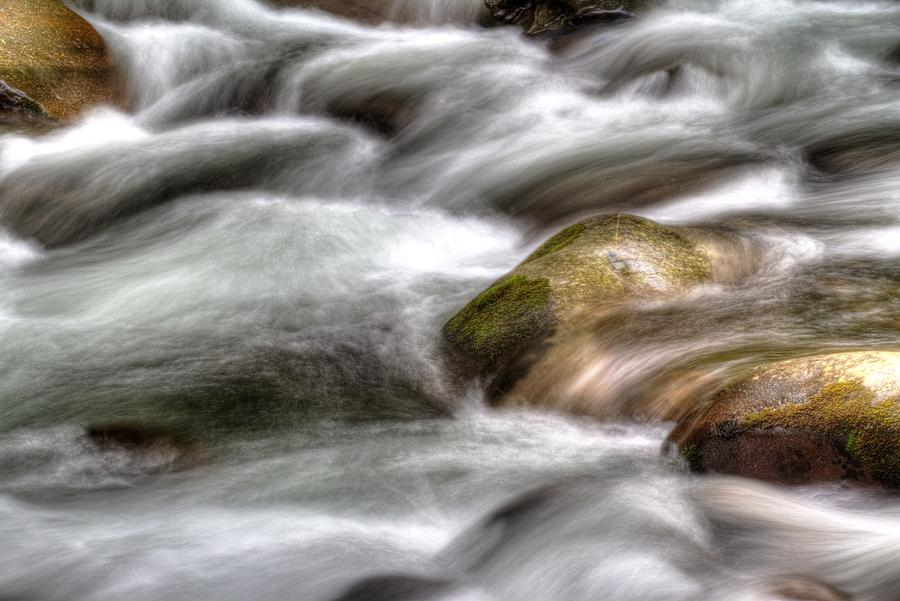 Water Photograph - Turbulence by Barry Jones