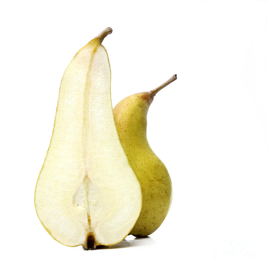 Healthy Eating Photograph - Two Pears by Bernard Jaubert