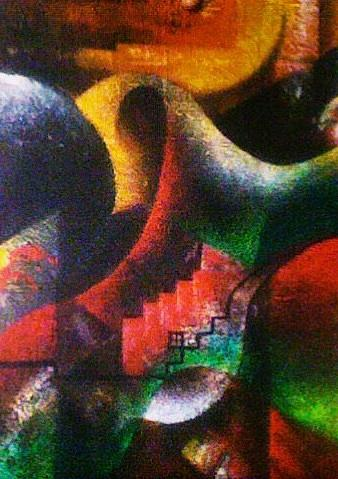 Abstract Painting - Untiteld by Cheaib Barki