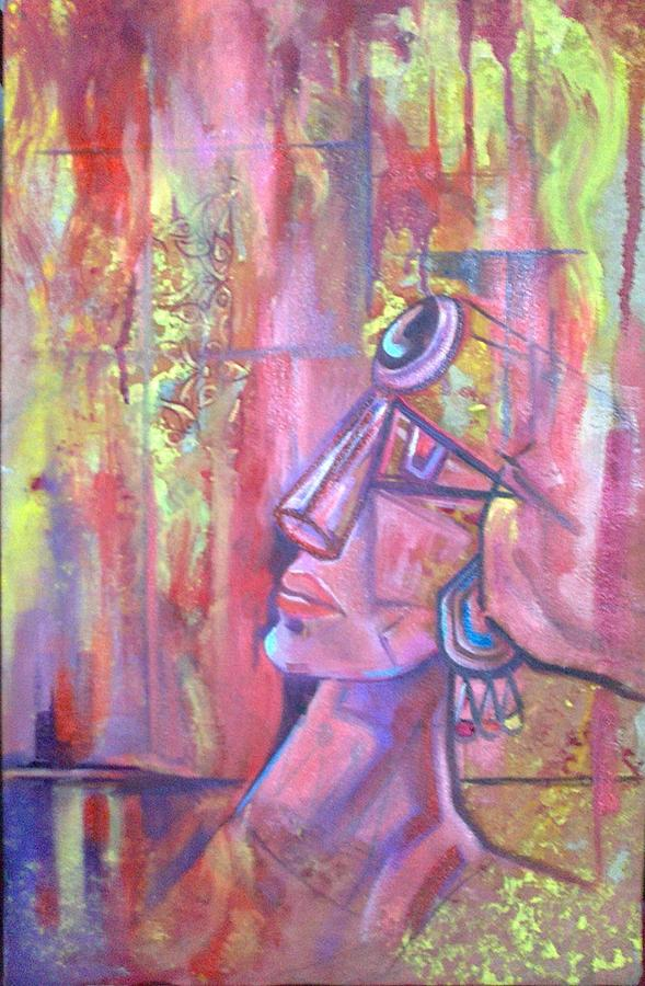 Figurative Abstract Painting - Untitled by Fariha Rashid