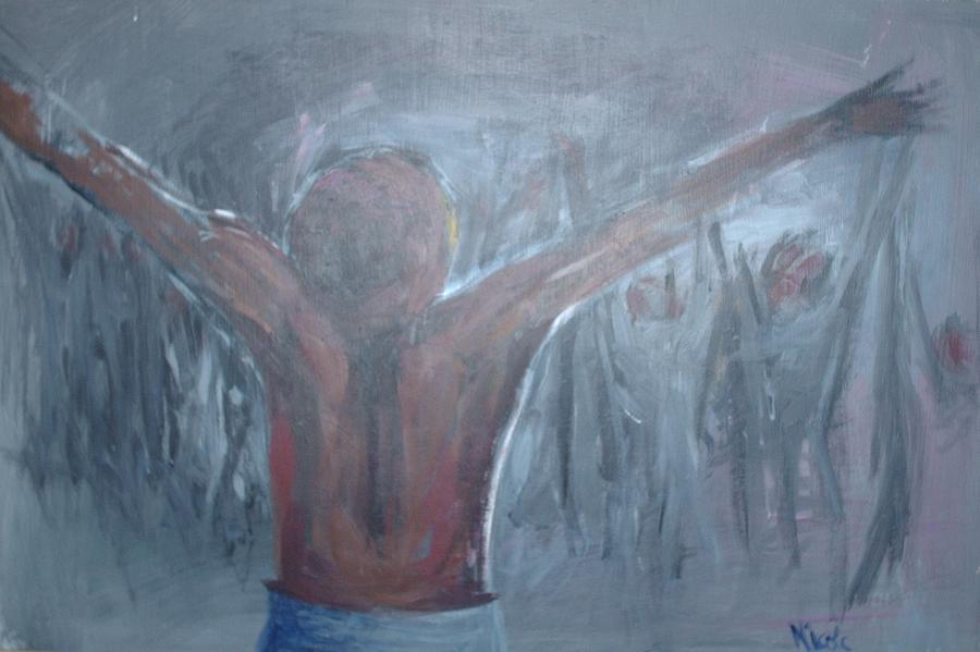 Jesus Painting - Untitled by Nicole Stewart