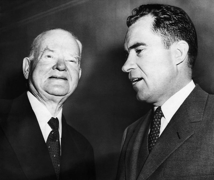 1950s Photograph - Us Presidents. Former Us President by Everett