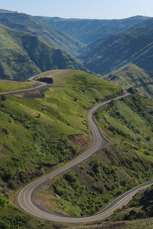 Vertical Photograph - Usa, Washington, Asotin County, Mountain Road by Gary Weathers