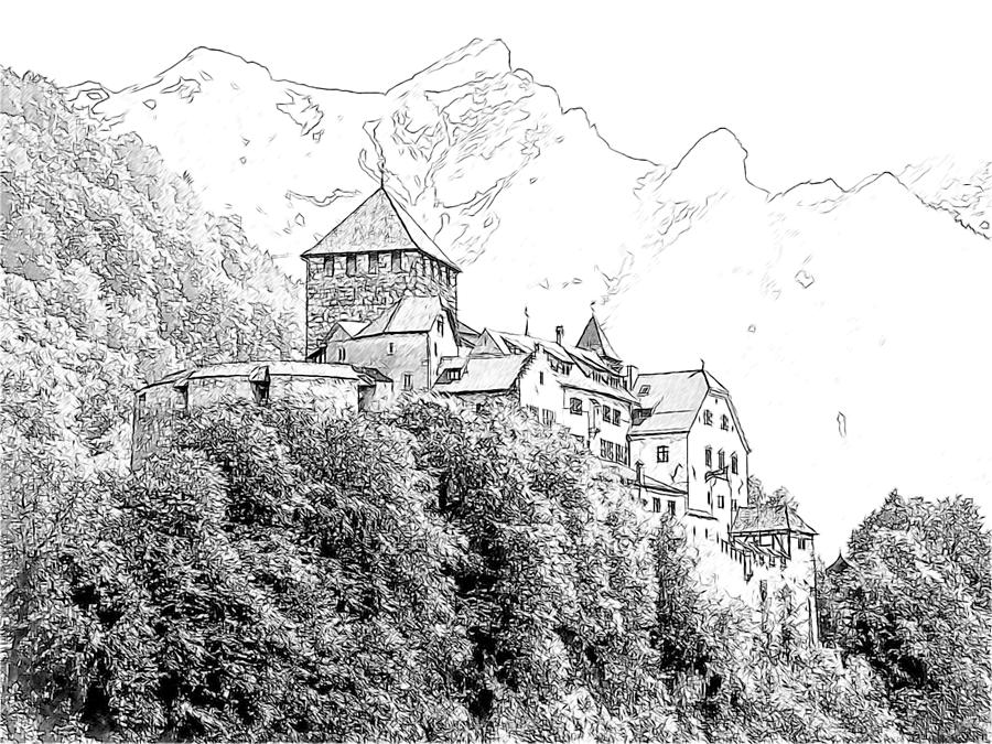 Europe Photograph - Vaduz Castle Vaduz Lichtenstein by Joseph Hendrix