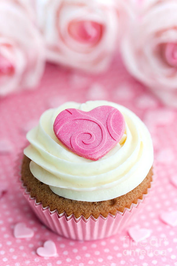 Cupcake Photograph - Valentine Cupcake by Ruth Black