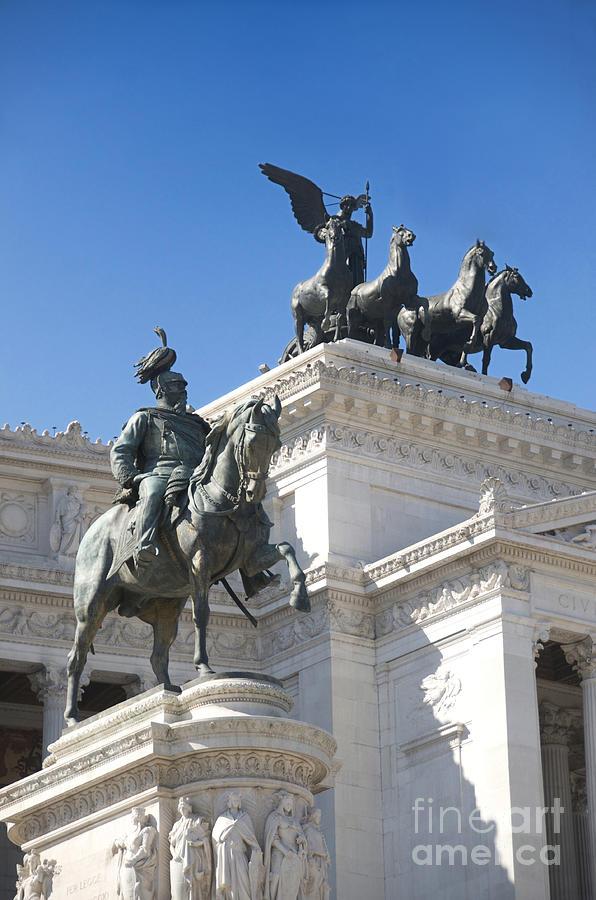 Bronze Photograph - Vittoriano. Monument To Victor Emmanuel II. Rome by Bernard Jaubert