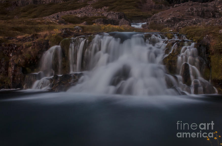 Iceland Photograph - Waterfall by Jorgen Norgaard