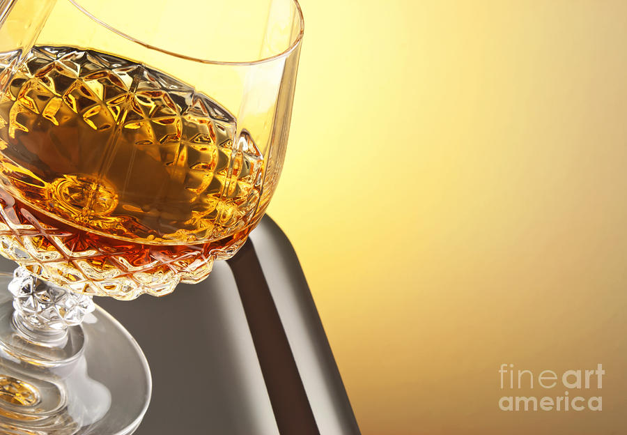 Whiskey Photograph - Whiskey In Stem Glass by Blink Images