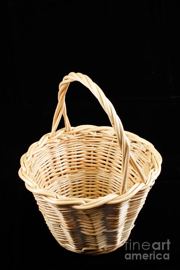Wicker Photograph - Wicker Basket by Gaspar Avila