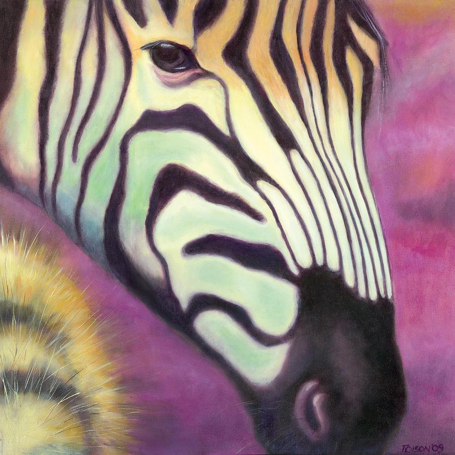 Zebra Painting - Wild Thing by Tammy Olson