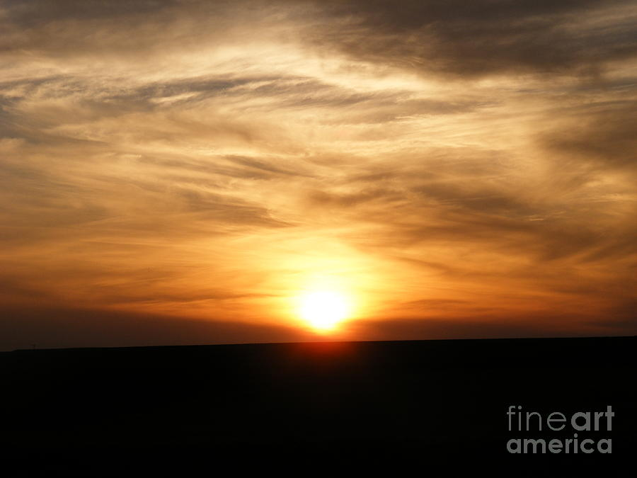 Sunset Photograph - Winter Sunset by Helena Marais