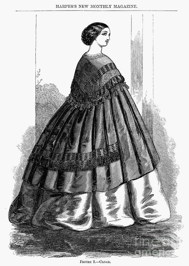 1857 Photograph - Womens Fashion, 1857 by Granger