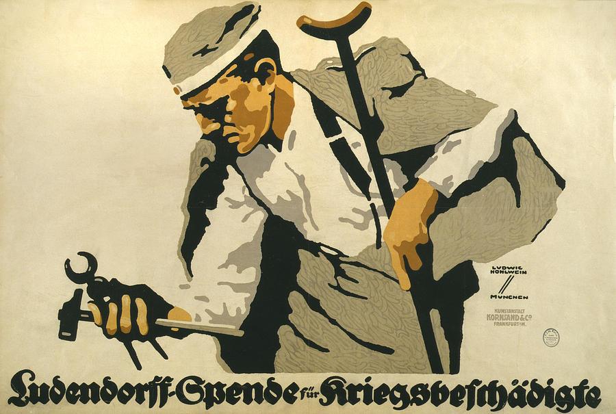 1910s Photograph - World War I, German Poster Shows by Everett