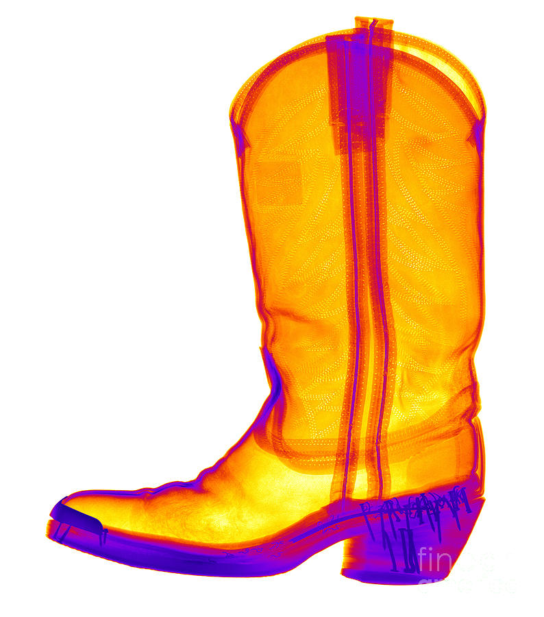 X-ray Photograph - X-ray Of A Cowboy Boot by Ted Kinsman
