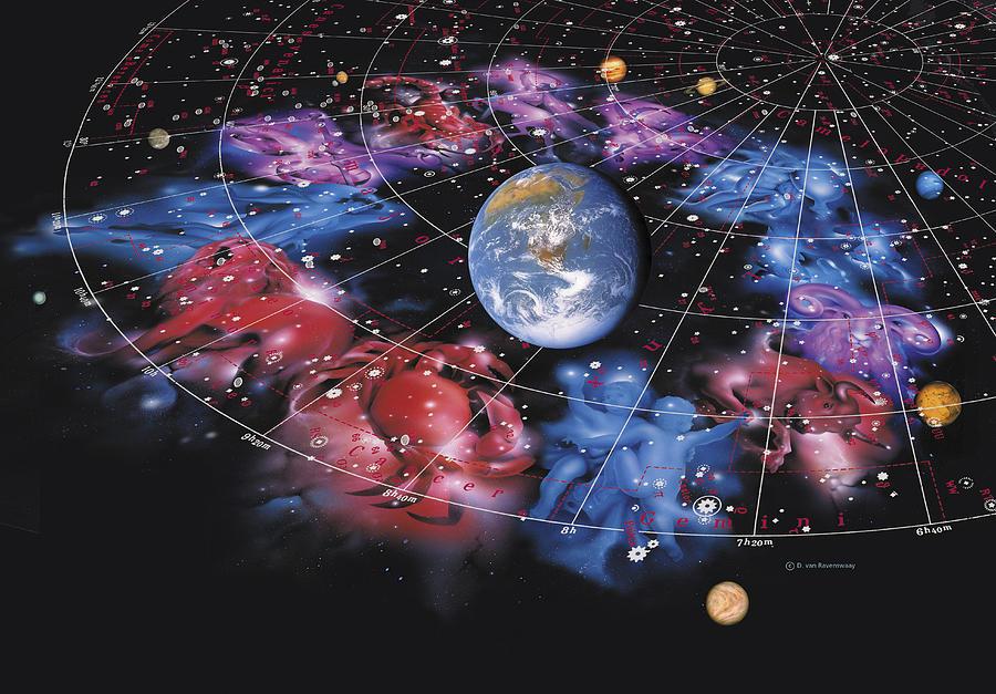Solar System Photograph - Zodiac Signs by Detlev Van Ravenswaay