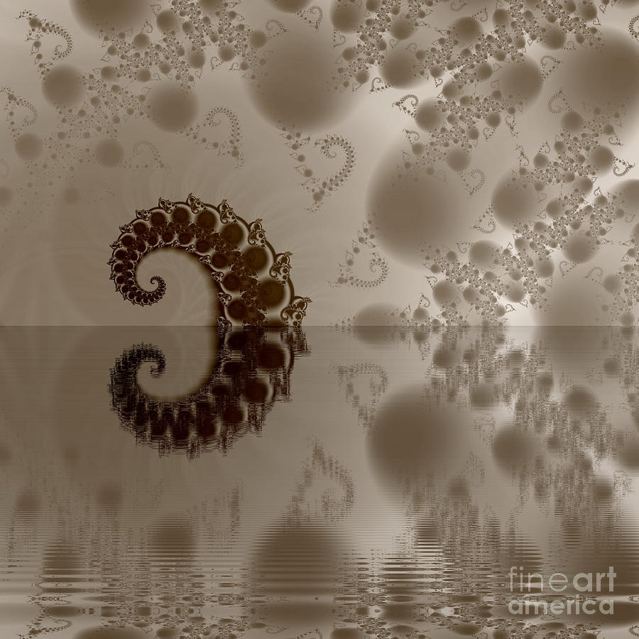 Abstract Digital Art -  Fractal Reflection by Odon Czintos