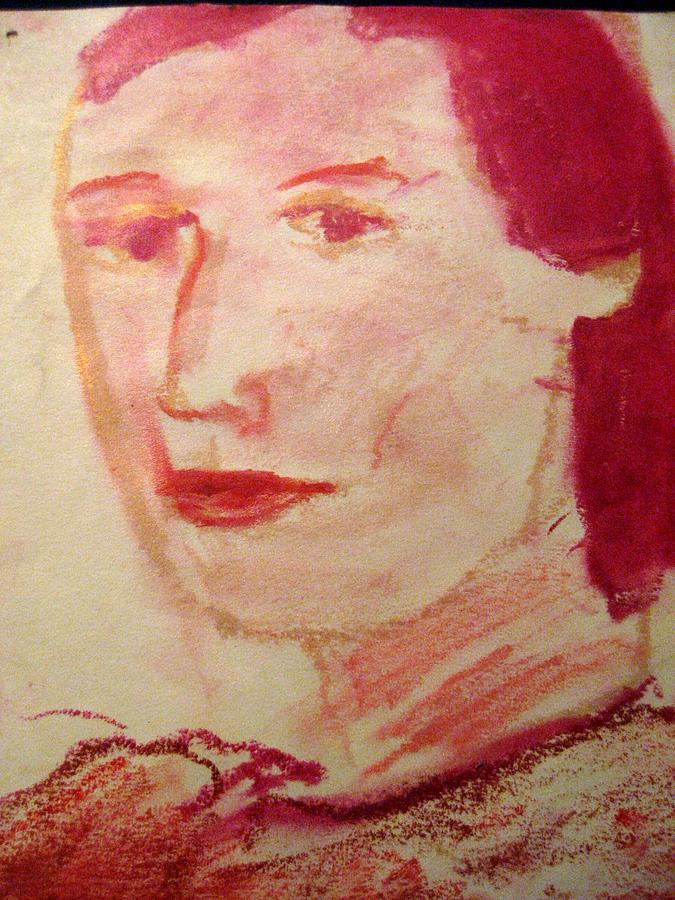 Lipstick Drawing - Untitled by Iris Gill