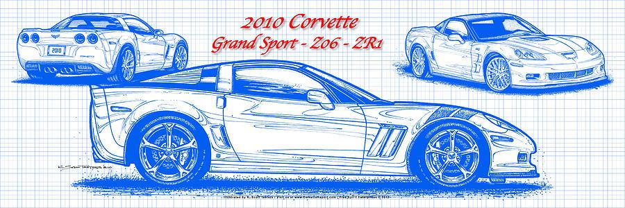 2010 corvette grand sport z06 zr1 blueprint digital art by k 2010 corvette digital art 2010 corvette grand sport z06 zr1 blueprint by k malvernweather Image collections